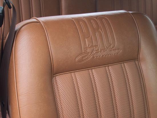 ZD Fairlane seat upholstery with PRO Fairlane Embossing.