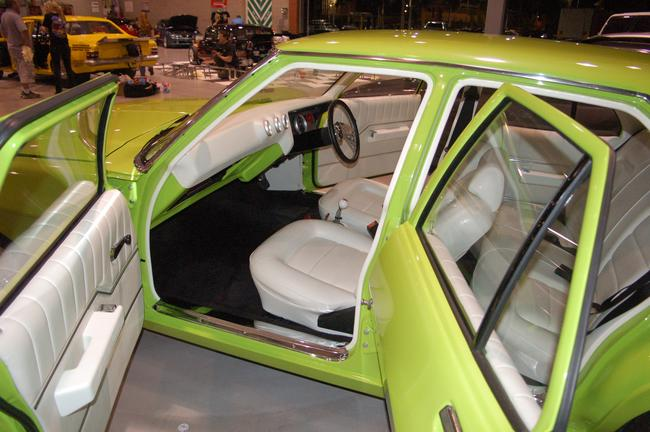 Hq sedan with white interior for Dash designs car interior shop