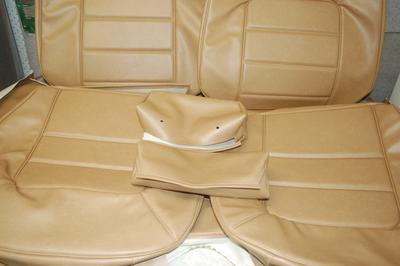 5.HQ GTS  Coupe Seat Covers - Antique Saddle
