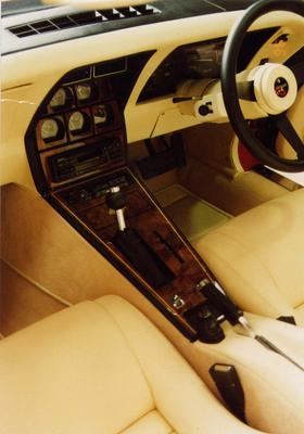 Corvette Interior - Console and dash